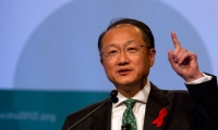Jim Yong Kim, president of the World Bank, speaks at the opening session of the International Aids Conference in Washington on 22 July. Photograph: Jacquelyn Martin/AP